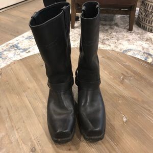 Harley Davidson Leather Moto Boots